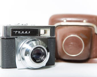 Zeiss Ikon Tenax Automatic 35mm Camera 1960s Original Leather Case Germany