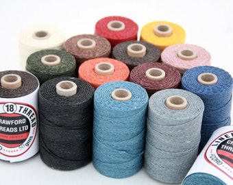 5 reels Waxed Linen Thread, Crawford's 4-ply Waxed Cord, approx. 450-500 yards in total, 250g