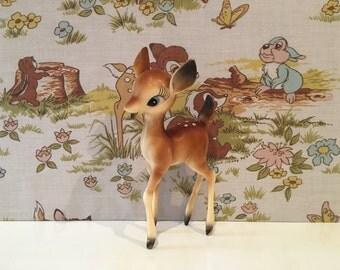 Vintage Kitsch Deer Cute Babycham Bambi Plastic Fawn Celluloid Christmas Reindeer