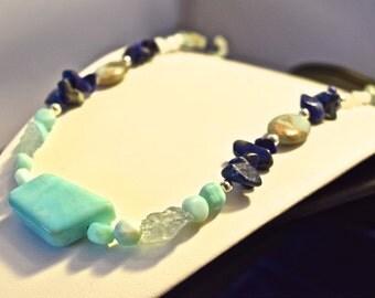 Ocean Dreams Blue Opal Necklace