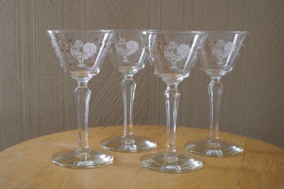 Libbey glasses vintage martini smoke