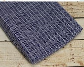 10% OFF SALE Changing Pad Cover in navy herringbone fabric, woodland chic