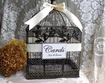 Wedding Card Box, Wedding Card Holder, Bird Cage Money Box, Bridal Shower, Wedding Cards, Shower Cards, Wedding Money Holder, Personalized