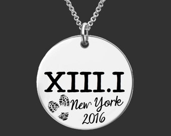 XIII.I Necklace | Half Marathon Necklace | Marathon Gifts | Runner Gift | Half Marathon Jewelry | Personalized Bracelet Korena Loves