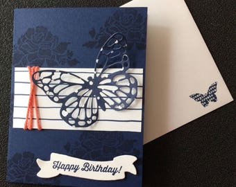 Birthday, Friend, Butterfly, Floral, Handmade, stampin up