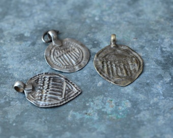 Indian silver pendant Repousse Seven Sisters amulet tribal high grade Silver Indian folk charms gypsy necklace stamp work amulet piece