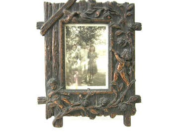 French picture frame cherubs angels metal frame Paris Apartment shabby chic