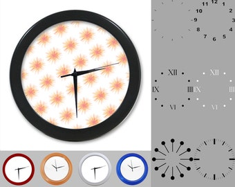 Firework Explosion Wall Clock, Abstract Design, Fun Graphic, Customizable Clock, Round Wall Clock, Your Choice Clock Face or Clock Dial