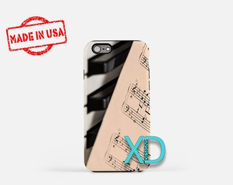 Piano Keys iPhone Case, Sheet Music iPhone Case, Music Note iPhone 8 Case, iPhone 6s Case, iPhone 7 Case, Phone Case, iPhone X Case, SE Case