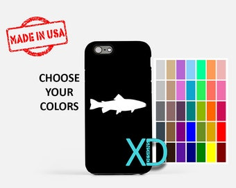 Simple Trout iPhone Case, Fish iPhone Case, Trout iPhone 8 Case, iPhone 6s Case, iPhone 7 Case, Phone Case, iPhone X Case, SE Case
