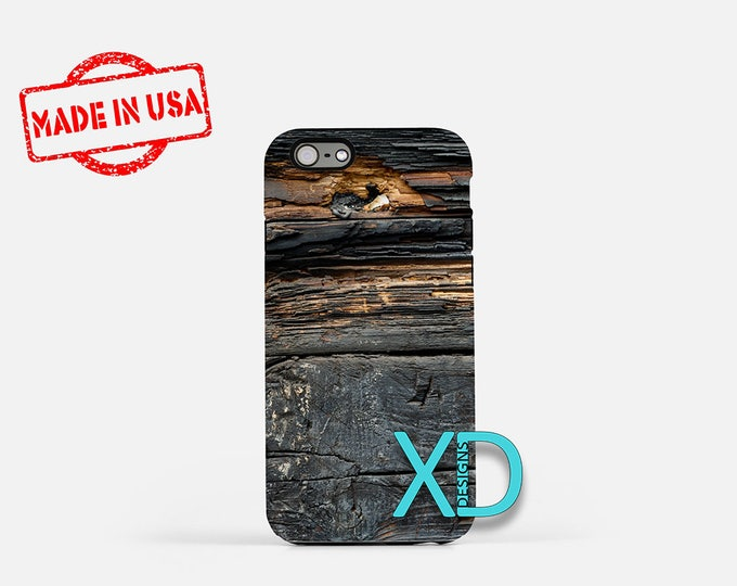 Burnt Wood iPhone Case, Tree iPhone Case, Burnt Wood iPhone 8 Case, iPhone 6s Case, iPhone 7 Case, Phone Case, iPhone X Case, SE Case New