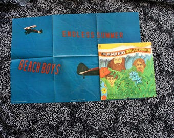 Beach Boys - Endless Summer WITH POSTER - Vintage Vinyl Double LP - 1974 Capitol Records. Rare 60s Double Surfer Beach Jam Rock N Roll