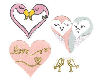 Sizzix - Framelits Die Set 8 Pack with Stamps - Bird Love by Lindsey Serata