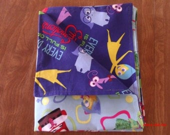 Inside Out Reversable Two sided Baby Blanket 100% cotton 43 X 37 inches