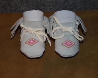 3- 6 month old Baby Moccasins