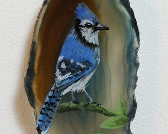 Blue Jay Agate Pendant