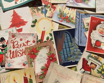 Jolly Ol' Vintage Christmas Cards - 19 Used and Signed Cards From The 1910s - 1950s!