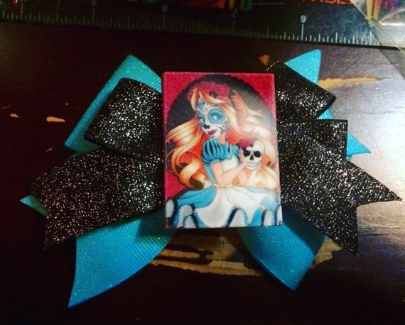 Day of the Dead Alice bow