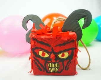 Pre-filled Pinata Treat Box Inspired By Cool Demons I Halloween Party |  Surprise Pinatas Set of 3 | Loot Bag | Fun Tabletops | Party Favors