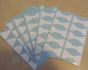Ready Ship SALE 70 2inch white Bowtie Stickers, Envelope Seals, Party Favors, Party Glasses, Unlimited Possibilities