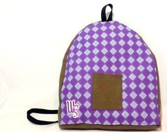 Purple Diamond Backpack