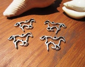 4pcs Horse charms, equestrian pendants, silver pendants, jewelry pendants, pendant necklace, pendants for jewelry making