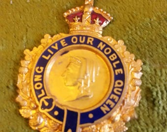 Heavy Metal and Enamel Long Live Our Noble Queen Medallion