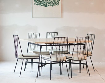Rare Paul McCobb Dining Table and Chairs for Arbuck