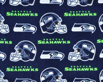 Seattle Seahawks NFL Fleece Fabric - Fabric Traditions 6400-D (sold by the 1/2 yard)
