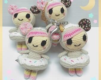 tokidoki donutella crochet plushie keychain ring crochet amigurumi dss jujube