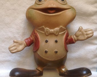 Rempel rubber toy / Froggy the Gremlin / 1940s rubber squeak toy /