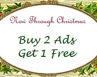 Buy 2 Ads Get 1 Free