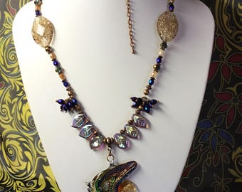 Murano Glass Fish Necklace.