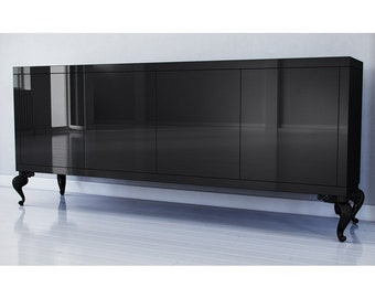 BUILT2ORDER // French Inspired Hollywood Regency Credenza - Customizable Finishes & Sizes