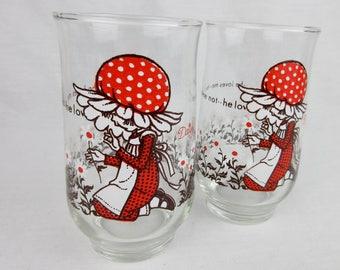 Vintage Pair of Glasses, He Loves Me--He Loves Me Not, Daisies, Sunbonnet Girl
