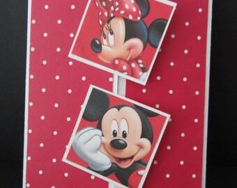 Birthday Gatefold Card Featuring Mickey & Minnie Mouse