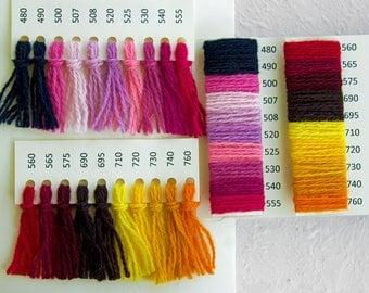 Wool Sample card - 80 colors, 100% wool