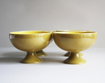 Vintage Small Yellow Mustard Bowl Set