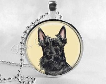 SCOTTY Necklace Pendant Scottie Dog Jewelry Scottish Terrier Scottie Dog Scotty Dog Necklace, Glass Photo Art Pendant Necklace