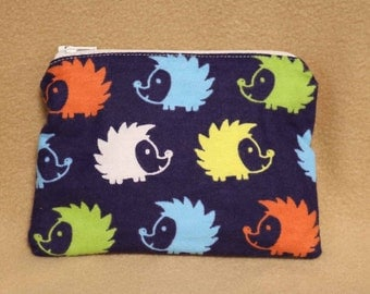 One Snack Sack, Reusable Lunch Bags, Flannel, Waste-Free Lunch, Machine Washable, Hedgehogs, Back to School, School Lunch, item #SS66