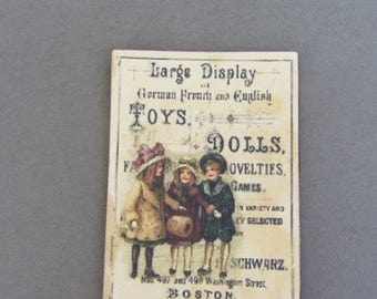 Old sign  large display Toys & Dolls