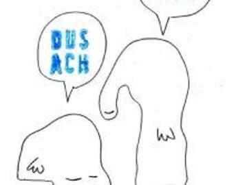 STICKER 'Dus ach', (OH goed) voor (waarschijnlijk) Nederlandstalige als Franstalige fans die graag om mijn website te promoten. (Maar niet verboden voor nondutchspeakers.)