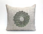 "magnolia wreath pillow, magnolia pillow, farmhouse pillow, farmhouse decor, rustic pillow, ""The Magnolia"""