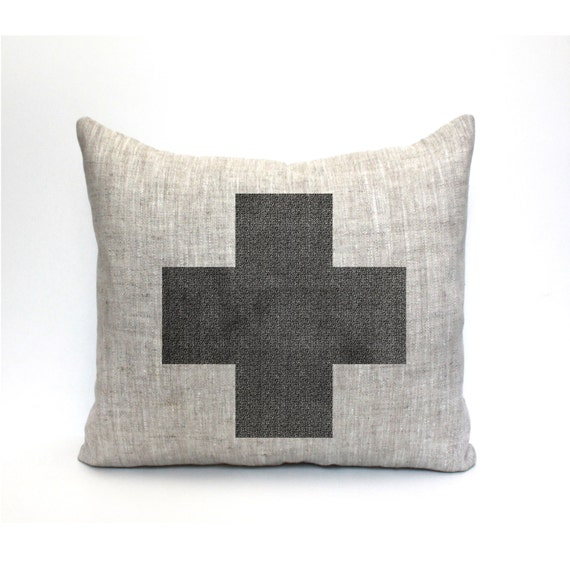 swiss cross pillow farmhouse pillow farmhouse decor by CoverLove