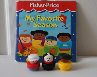 Fisher Price My Favorite Season book and chunky people