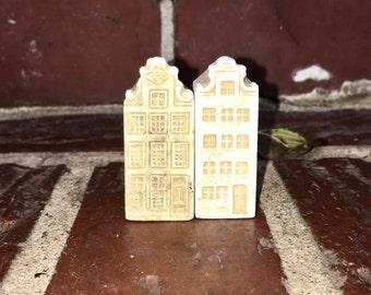 Teensy City Buildings. Vintage Miniature. Dollhouse.