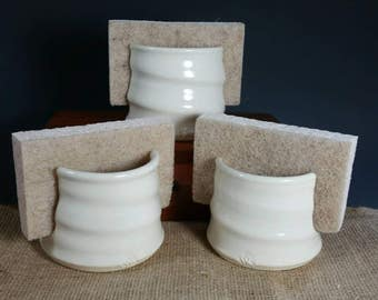 Sponge Holder Stoneware White