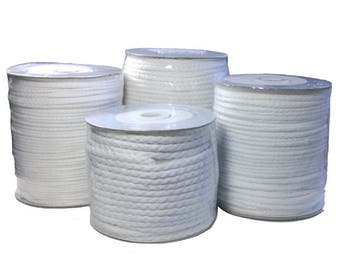 White Piping Cord 100% Cotton Sizes 1 - 5 Wholesale Roll 30 mts - 180 mts
