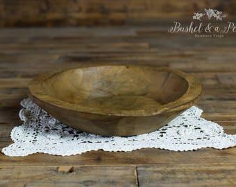 Round Wooden Posing Bowl-Newborn Photography Prop