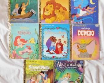 8 vintage Walt Disney GOLDEN BOOKS great condition
